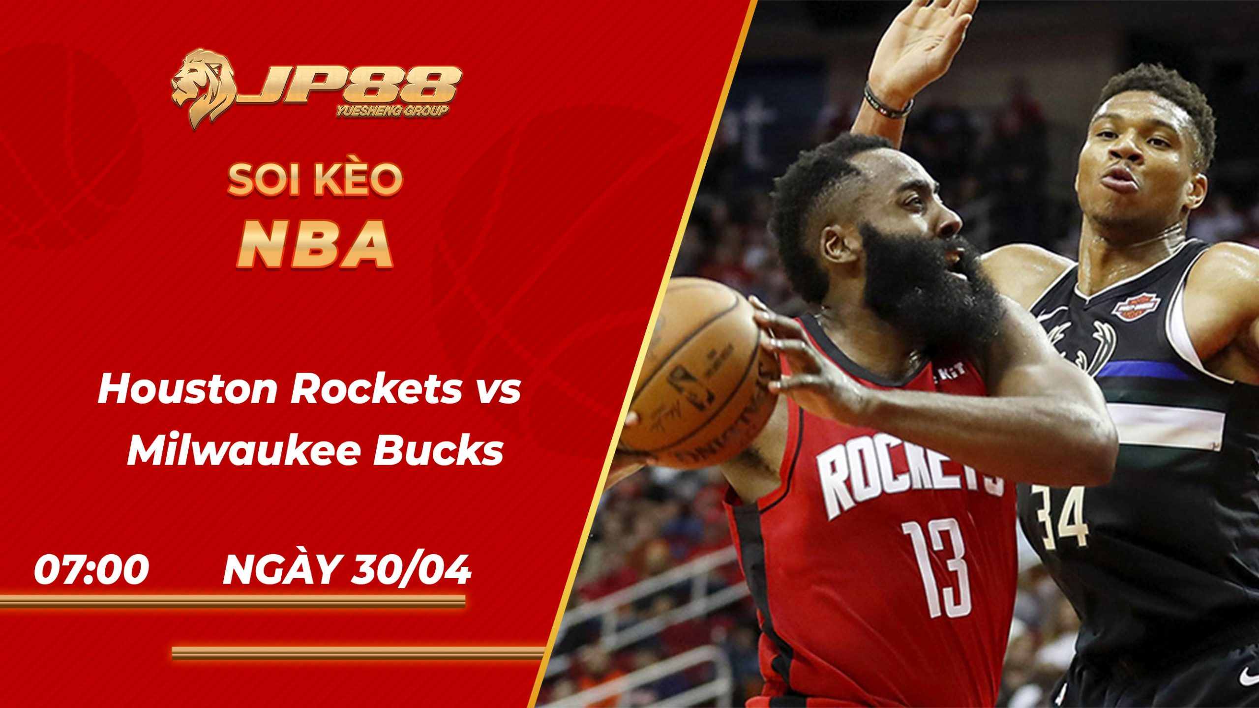 Soi Kèo bóng rổ Houston Rockets vs Milwaukee Bucks – 7h00 – 30/4/2021