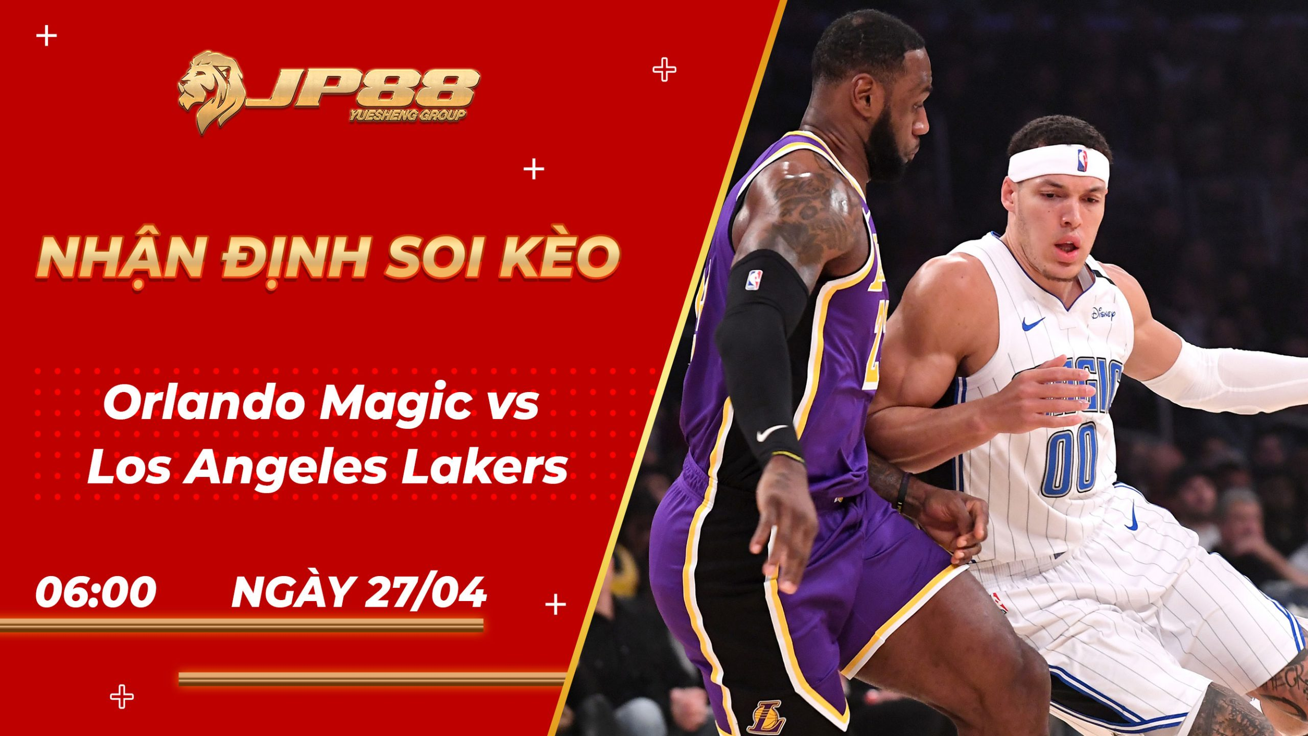 Soi kèo bóng rổ Orlando Magic vs Los Angeles Lakers 06h05 27/04/2021 - NBA