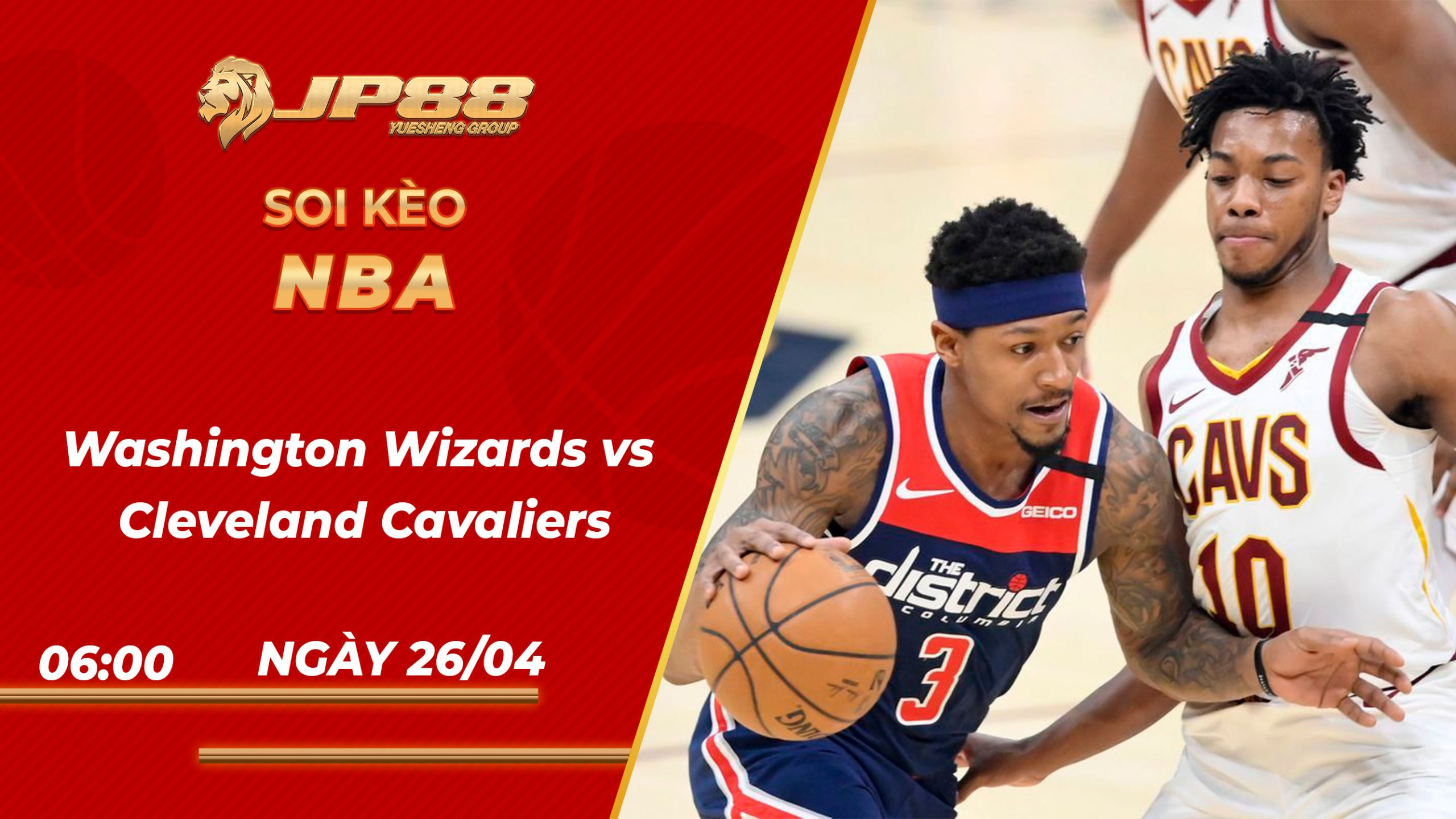 Soi kèo bóng rổ Washington Wizards vs Cleveland Cavaliers – 26/04/2021