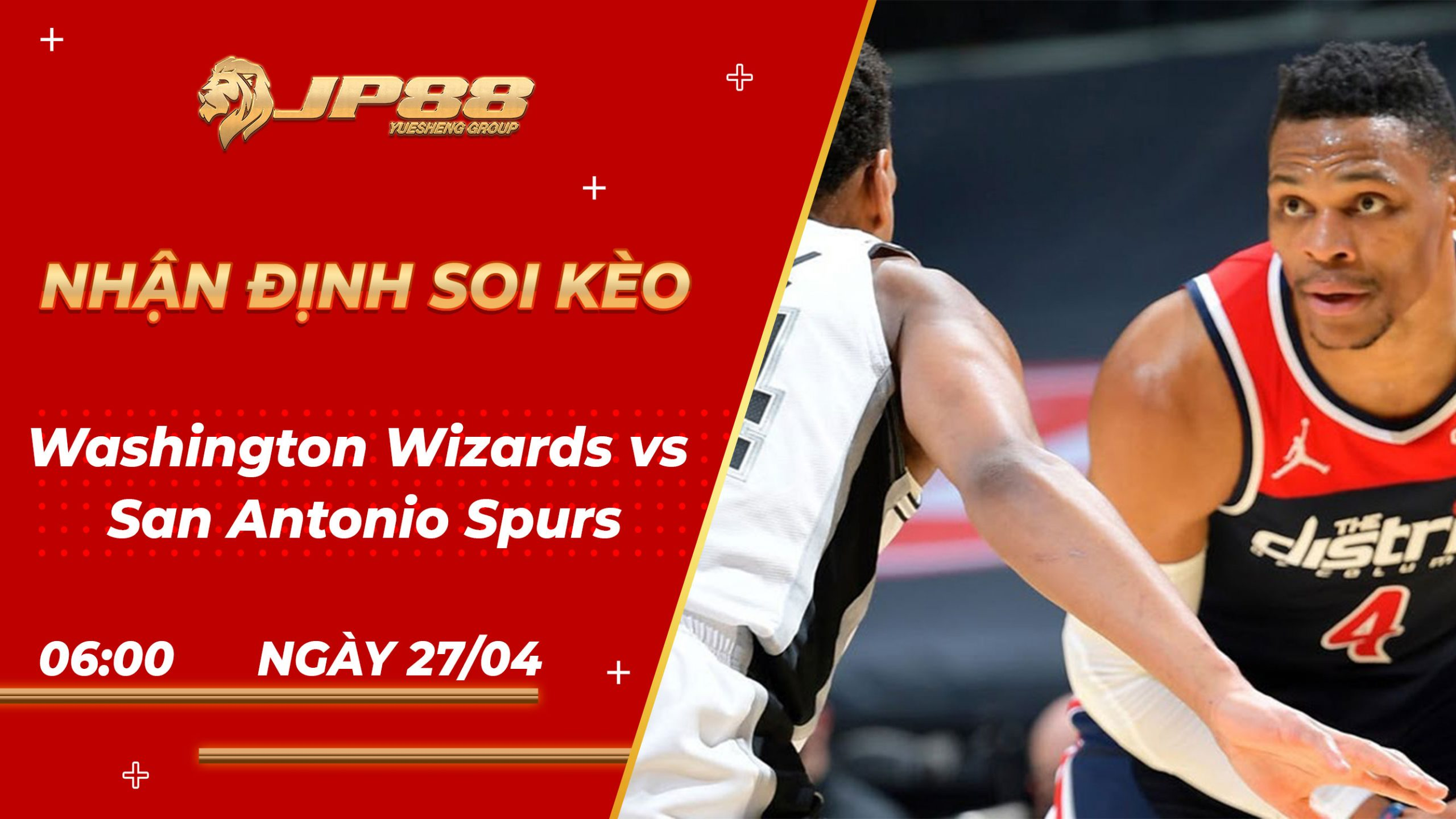 Soi Kèo bóng rổ Washington Wizards vs San Antonio Spurs – 6h00 – 27/4/2021